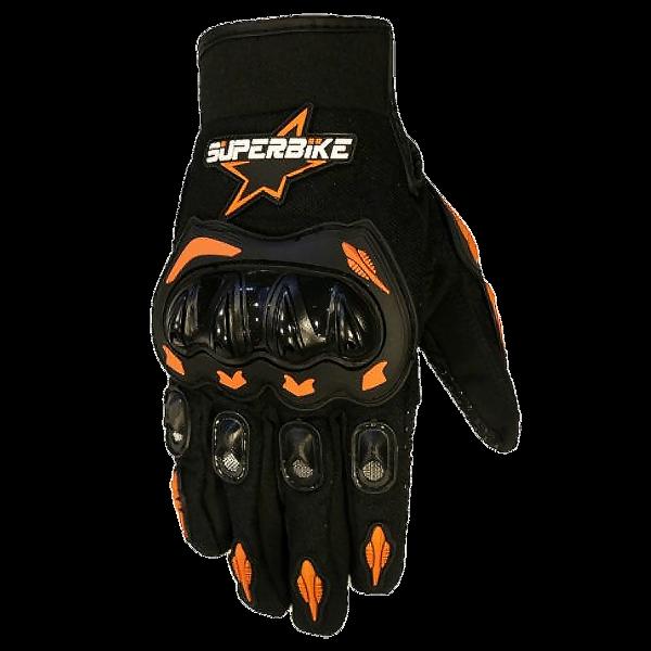 SuperBike green gloves