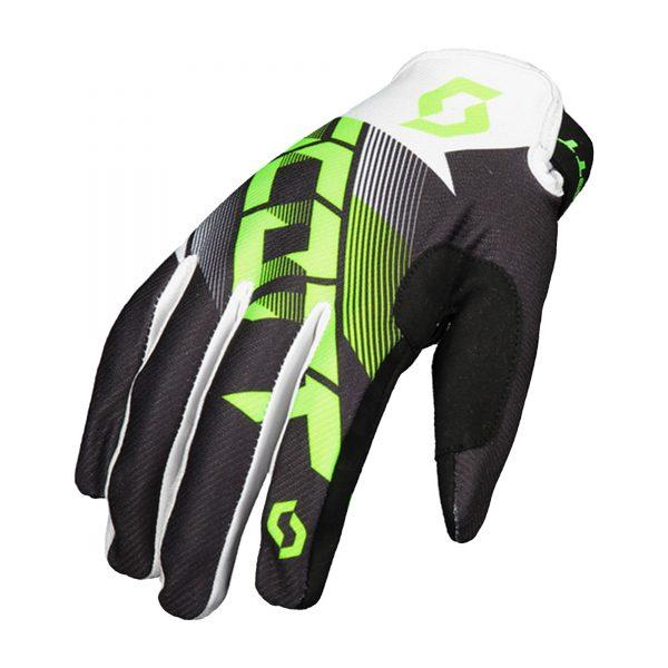 Scott 350Dirt white/green gloves
